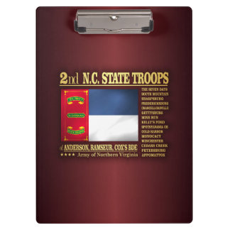2nd NC State Troops (BA2) Clipboard