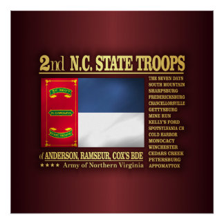 2nd NC State Troops (BA2) Poster