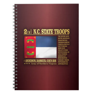 2nd NC State Troops (BA2) Spiral Notebook
