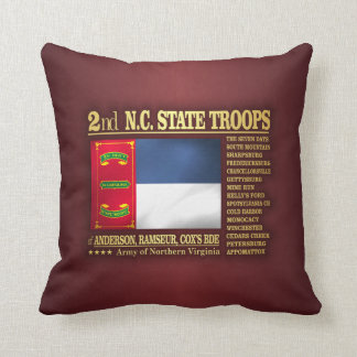 2nd NC State Troops (BA2) Throw Pillow