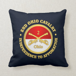 2nd Ohio Cavalry (rd) Throw Pillow