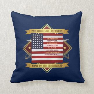 2nd Ohio Volunteer Infantry Throw Pillow
