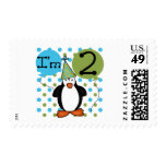 2nd Penguin Birthday Tshirts and Gifts Stamps