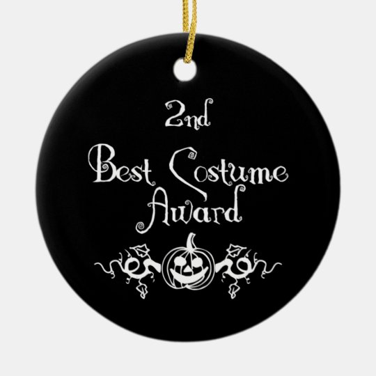 2nd Place B&W Jack & Vines Best Costume Award Ceramic Ornament