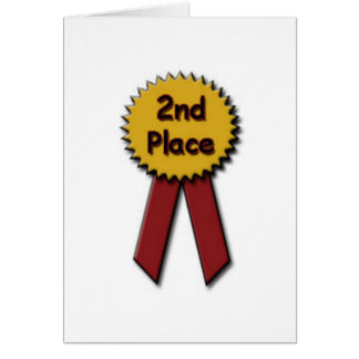 2nd Place Red Ribbon Card