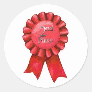 2nd Place Ribbon Award Stickers