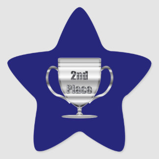 2nd Place Trophy Star Sticker