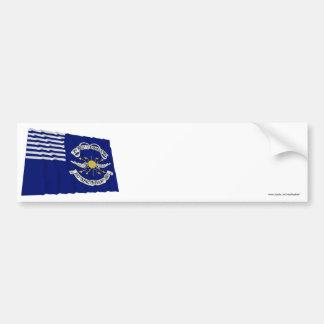 2nd Regt Lt Dragoons Waving Flag Bumper Sticker