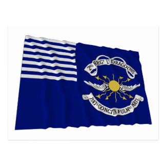 2nd Regt Lt Dragoons Waving Flag Postcard