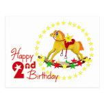 2nd Rocking Horse Birthday Postcard