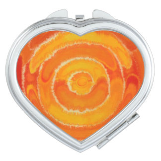 2nd-Sacral Chakra Healing Orange Artwork #1 Compact Mirror