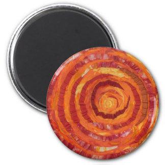 2nd-Sacral Chakra - Orange Paint-Fabric #2 Magnet