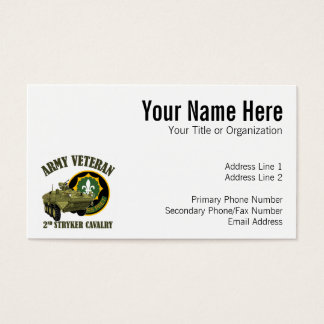 2nd SCR Vet - Stryker Business Card