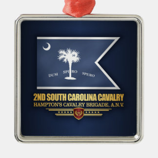 2nd South Carolina Cavalry Metal Ornament