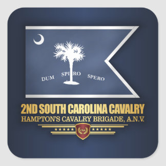 2nd South Carolina Cavalry Square Sticker