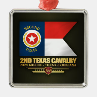 2nd Texas Cavalry Metal Ornament