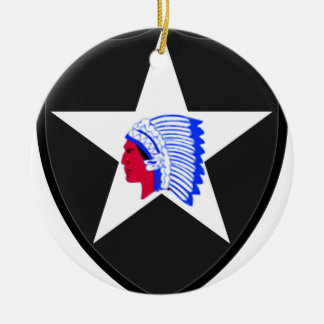 2nd U.S. Infantry Indianhead Division Ceramic Ornament