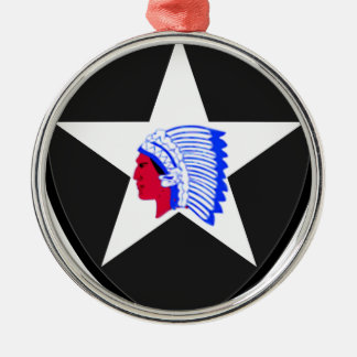 2nd U.S. Infantry Indianhead Division Metal Ornament