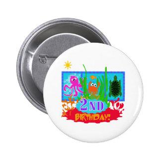 2nd Undersea Adventure Birthday Pinback Buttons