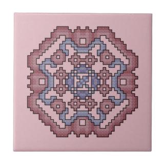 2nd Violet and Mauve Quilt Square Tile