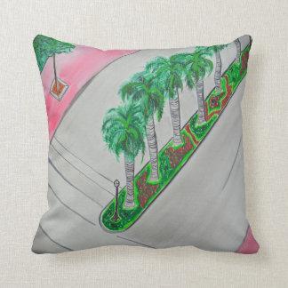 ~2nd & Washington Ave.~ South Beach Miami Throw Throw Pillow