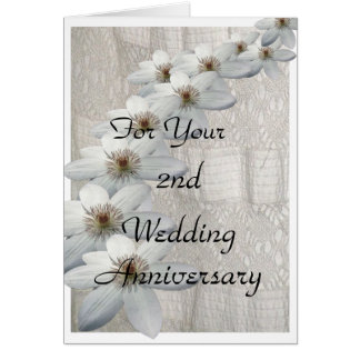 2nd Wedding Anniversary Card Template