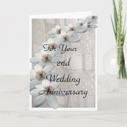 2nd wedding anniversary card template zazzle com