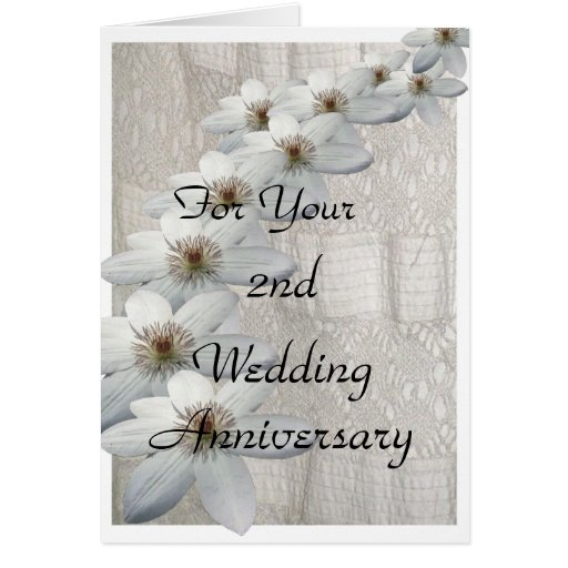 2nd Wedding Anniversary Card Template | Zazzle