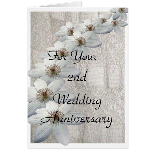 2nd Wedding Anniversary Card Template | Zazzle