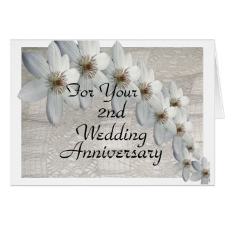 2nd Wedding Anniversary Card Traditional Template