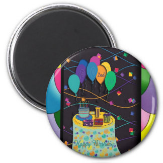 2ndsurprisepartyyinvitationballoons copy 2 inch round magnet