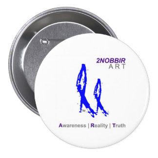 2NOBBIR ART 3in Awareness Button