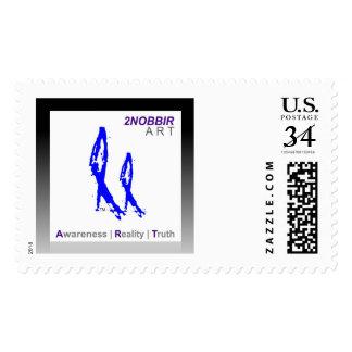 2NOBBIR ART Postage Post Card (Large)