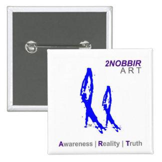 2NOBBIR ART Square Awareness Button