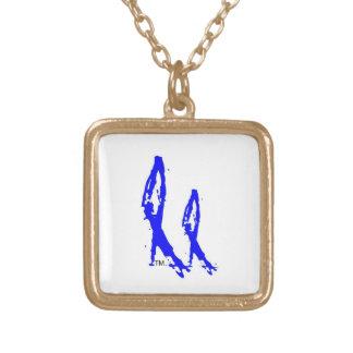 2NOBBIR Metal Gold Finish (sm) Square Pendant Necklace