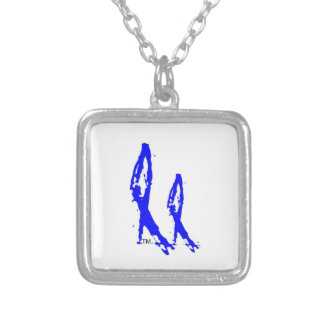 2NOBBIR Sterling Silver Plated (sm) Square Pendant Necklace