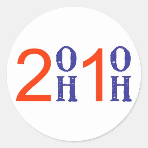 2OH1OH Rnd Sticker