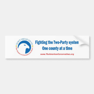 2party1County Bumper Stickers