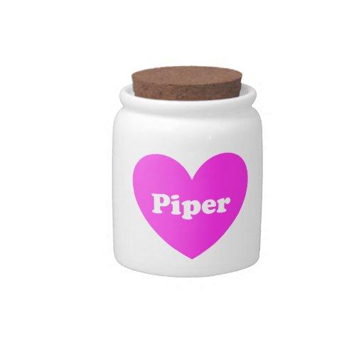 2Piper Plato Para Caramelo