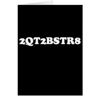 2QT2BE (línea de la recogida) Felicitacion