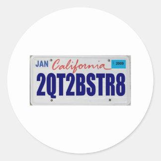 2QT2BSTR8:  California Pegatina Redonda