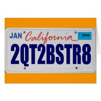 2QT2BSTR8:  California Tarjeta De Felicitación