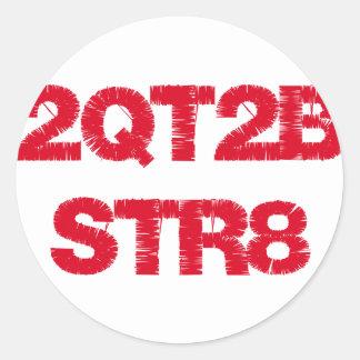 2QT2BSTR8 CLASSIC ROUND STICKER