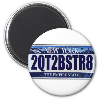 2QT2BSTR8:  Nueva York Imán Redondo 5 Cm