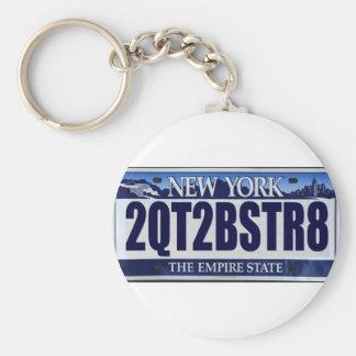 2QT2BSTR8:  Nueva York Llavero Redondo Tipo Pin