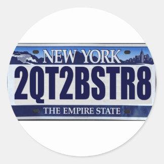 2QT2BSTR8:  Nueva York Pegatina Redonda