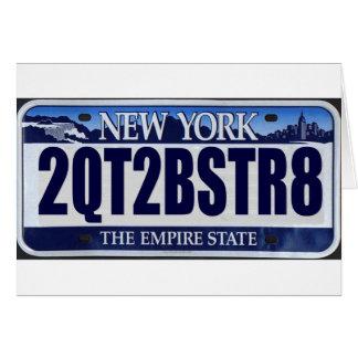 2QT2BSTR8:  Nueva York Tarjeta De Felicitación
