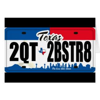 2QT2BSTR8:  Tejas Tarjeta De Felicitación