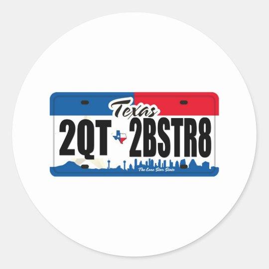 2QT2BSTR8:  Texas Classic Round Sticker