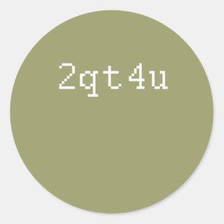 2qt4u etiquetas redondas